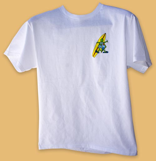 front of white honu turtle t-shirt item I D T S W H